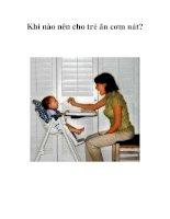 Tài liệu Khi nào nên cho trẻ ăn cơm nát? doc