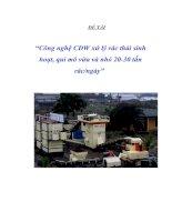 Công nghệ xử lý rác MBT - CD 08 (mechanic bio treatment)