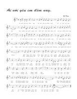 Tài liệu Bài hát ai nói yêu em đêm nay - Y Vân (lời bài hát có nốt) pptx