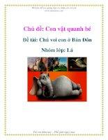 Tài liệu Chủ đề: Con vật quanh bé - Đề tài: Chú voi con ở Bản Đôn - Nhóm lớp: Lá ppt