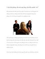 """Tài liệu 3 câu hỏi phỏng vấn mà mọi ứng viên đều muốn """"né"""" docx"""