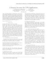 Z source inverter for UPS application