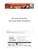 Tài liệu Cabling Standard - (Private) - Harvard University - Wire and Cable Standards pptx