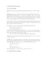 Tài liệu Bài tập và công thức nội suy Lagrange ppt