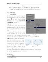 Tài liệu Bài giảng thiết kế kỹ thuật - Chương 3: Các lệnh chỉnh sửa vẽ nhanh các đối tượng 2D pdf