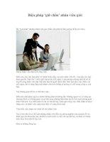 Tài liệu Biện pháp ''''giữ chân'''' nhân viên giỏi pdf