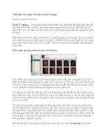 Tài liệu Tiết kiệm thời gian với tiện ích từ Google pdf