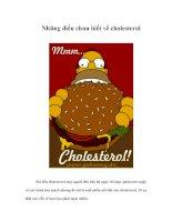 Tài liệu Những điều chưa biết về cholesterol doc