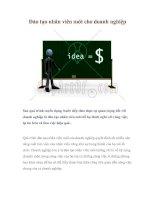 Tài liệu Đào tạo nhân viên mới cho doanh nghiệp ppt
