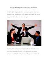 Tài liệu Bốn cách đơn giản để thu phục nhân viên pptx