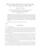 Khảo sát tầng nghĩa biểu trưng trên ngữ liệu thơ việt nam giai đoạn 1930 1975