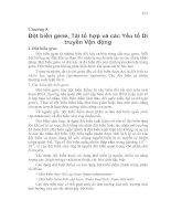 Tài liệu Chương 8: Đột biến gene, Tái tổ hợp và các Yếu tố Di truyền Vận động doc