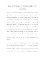 Tài liệu LUYỆN ĐỌC TIẾNG ANH QUA TÁC PHẨM VĂN HỌC-THE ADVENTURES OF HUCKLEBERRY FINN CHAPTER 36 pptx