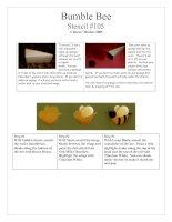 Tài liệu Bumble Bee-Stencil #105 pdf