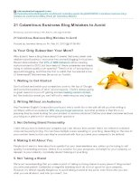 21 calamitous business blog mistakes to avoid
