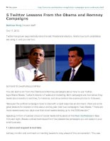 5 twitter lessons from the obama and romney campaigns