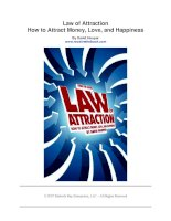 Tài liệu Law of Attraction - How to Attract Money, Love, and Happiness By David Hooper pptx