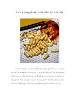 Tài liệu Lưu ý dùng thuốc chữa viêm túi mật cấp doc