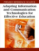 Tài liệu Adapting Information and Communication Technologies for Effective Education docx