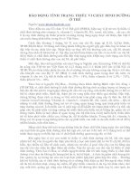 Tài liệu TÌNH TRẠNG THIẾU VI CHẤT DINH DƯỠNG Ở TRẺ pdf