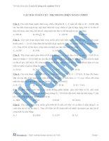 Tài liệu (Luyện thi cấp tốc Lý) Các bài toán cực trị trong điện xoay chiều_Trắc nghiệm và đáp án docx