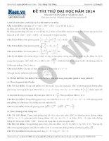 đề thi thử đại học 2014 và đáp án đề 1