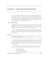 Tài liệu Chương 6. Lập trình hướng đối tượng Chương này giới thiệu những khái niệm pptx