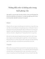Tài liệu Những điều nên và không nên trong buổi phỏng vấn pdf