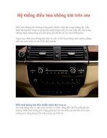 Tài liệu Hệ thống điều hòa không khí trên oto pdf