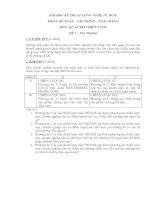 Tài liệu ĐỀ THI QUẢN TRỊ CHIẾN LƯỢC TRƯỜNG ĐHKTCN TP.HCM pdf
