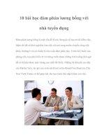 Tài liệu 10 bài học đàm phán lương bổng với nhà tuyển dụng pdf