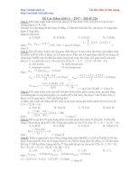 Tài liệu Rèn luyện kỹ năng giải đề thi đại học 2010 doc