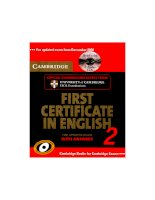 Cambridge first certificate in english 2   2008