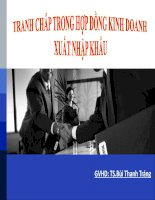 Tiểu luận Canh tranh trong hợp đồng xuất nhập khẩu