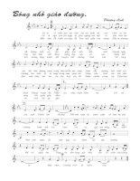 Tài liệu Bài hát bóng nhỏ giáo đường - Phượng Linh (lời bài hát có nốt) pptx