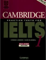 Tài liệu Cambridge Practice Tests for IELTS part 1 docx