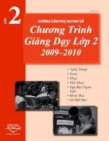 Tài liệu HƯỚNG DẪN PHỤ HUYNH VỀ CHƯƠNG TRÌNH GIẢNG DẠY LỚP 12 2009-2010 docx