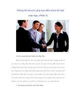 Tài liệu Những lời khuyên giúp bạn điều hành tốt một cuộc họp. (Phần 2) docx