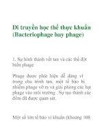 Tài liệu Di truyền học thể thực khuẩn pdf