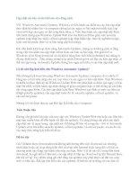 Tài liệu Cập nhật các bản vá như thế nào cho đúng cách pdf