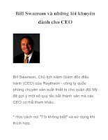 Tài liệu Bill Swanson và những lời khuyên dành cho CEO pptx