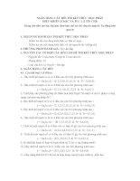 Tài liệu NGÂN HÀNG CÂU HỎI THI KẾT THÚC HỌC PHẦN ĐIỀU KHIỂN LOGIC VÀ PLC pptx