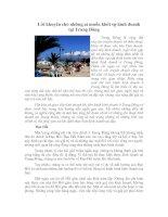 Tài liệu Lời khuyên cho những ai muốn khởi sự kinh doanh tại Trung Đông pptx