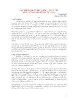 Tài liệu ĐẶC ĐIỂM CHẾ ĐỘ KHÍ TƯỢNG - THỦY VĂN VÙNG ĐỒNG BẰNG SÔNG CỬU LONG pdf