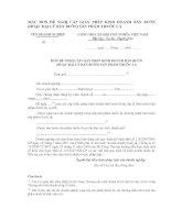 Tài liệu MẪU ĐƠN ĐỀ NGHỊ CẤP GIẤY PHÉP KINH DOANH BÁN BUÔN (HOẶC ĐẠI LÝ BÁN BUÔN) SẢN PHẨM THUỐC LÁ pdf