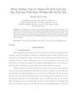 Đông dương tạp chí trong tiến trình hiện đại hóa văn học việt nam 30 năm đầu thế kỷ XX