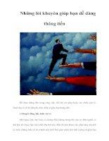 Tài liệu Những lời khuyên giúp bạn dễ dàng thăng tiến pptx