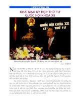 Tài liệu KHAI MẠC KỲ HỌP THỨ TƯ QUỐC HỘI KHÓA XII docx