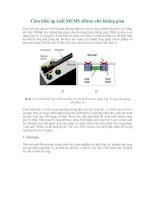 Tài liệu Cảm biến áp suất MEMS silicon cho không gian docx