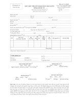 Tài liệu Mẫu giấy nộp tiền vào ngân sách nhà nước bằng ngoại tệ pptx